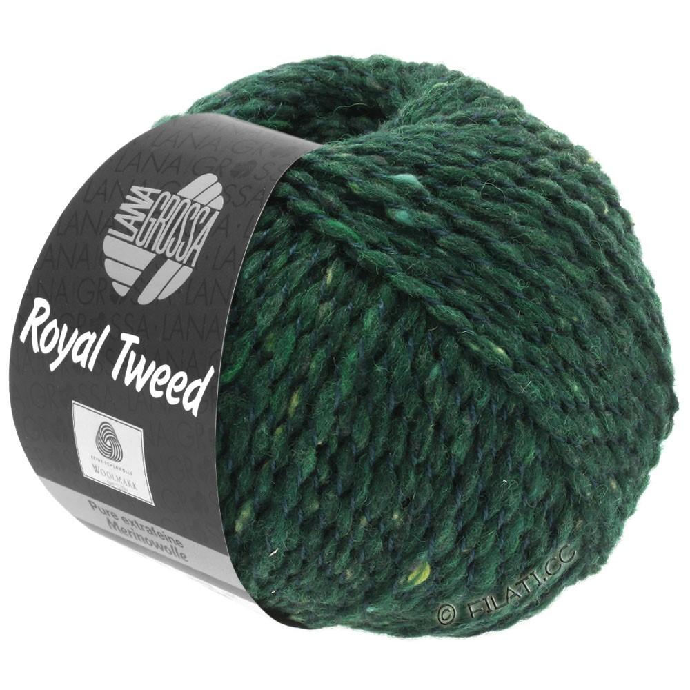 Lana Grossa ROYAL TWEED | 90-dark green mottled