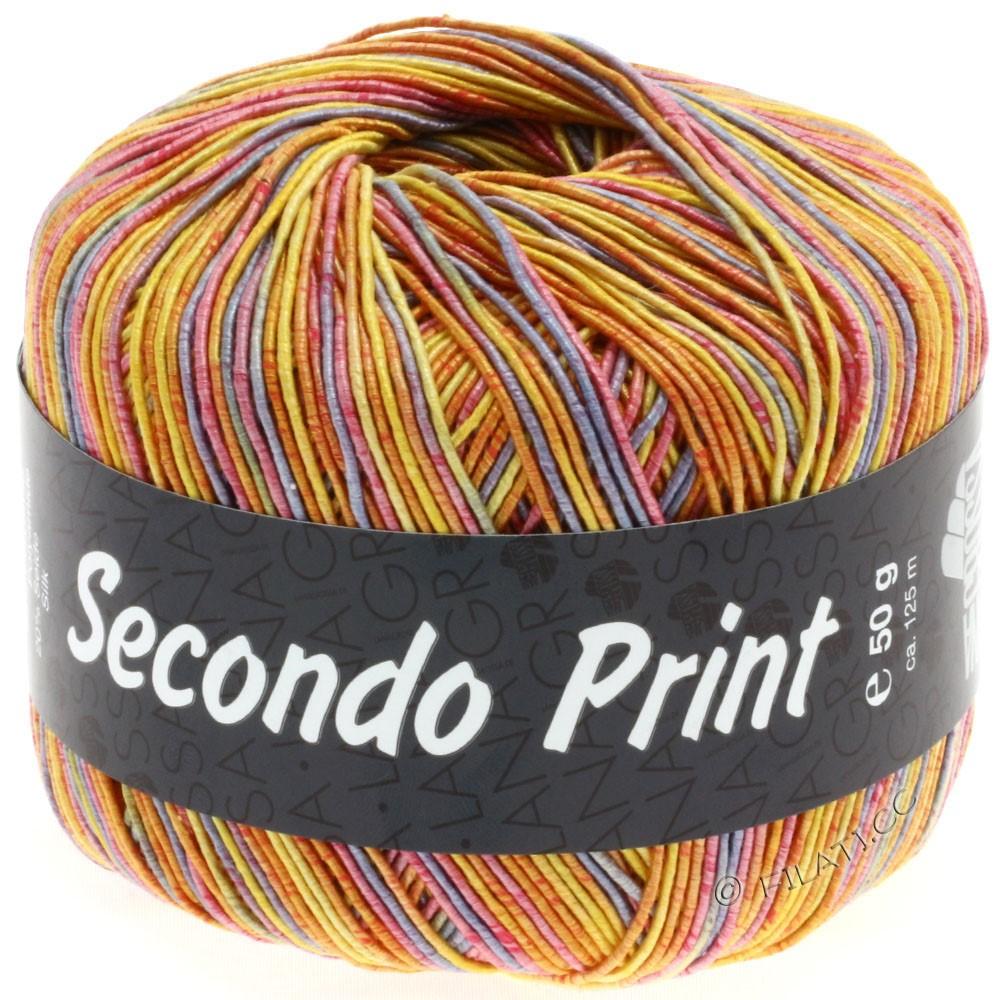 Lana Grossa SECONDO Print II | 501-yellow/orange/lilac/pink