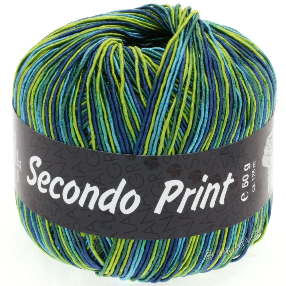 Lana Grossa SECONDO Print II | 502-lime/turquoise/petrol/jeans/emerald