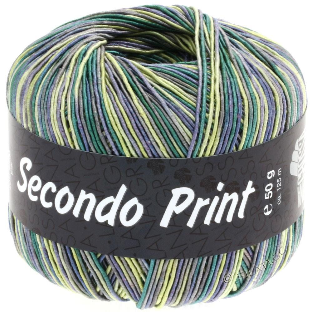 Lana Grossa SECONDO Print II | 506-jeans/yellow/emerald/dark gray