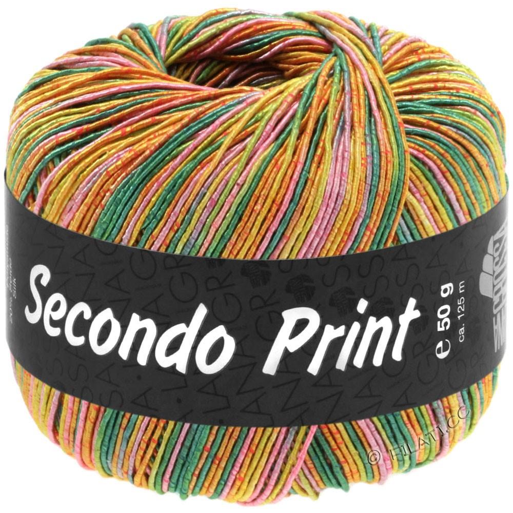 Lana Grossa SECONDO Print II | 515-emerald/pistachio/apricot/pink