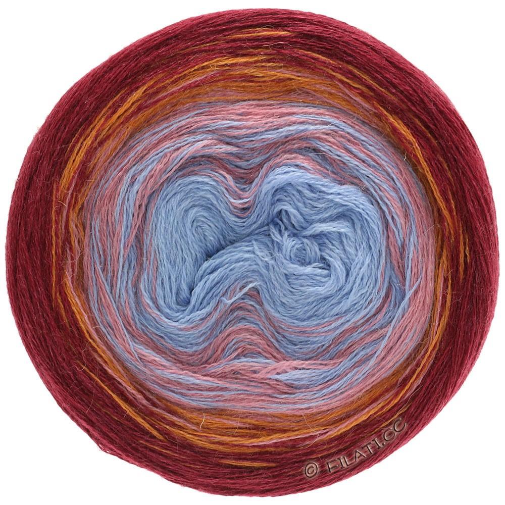 Lana Grossa SHADES OF ALPACA SILK | 301-bordeaux/orange/beige rose/blue