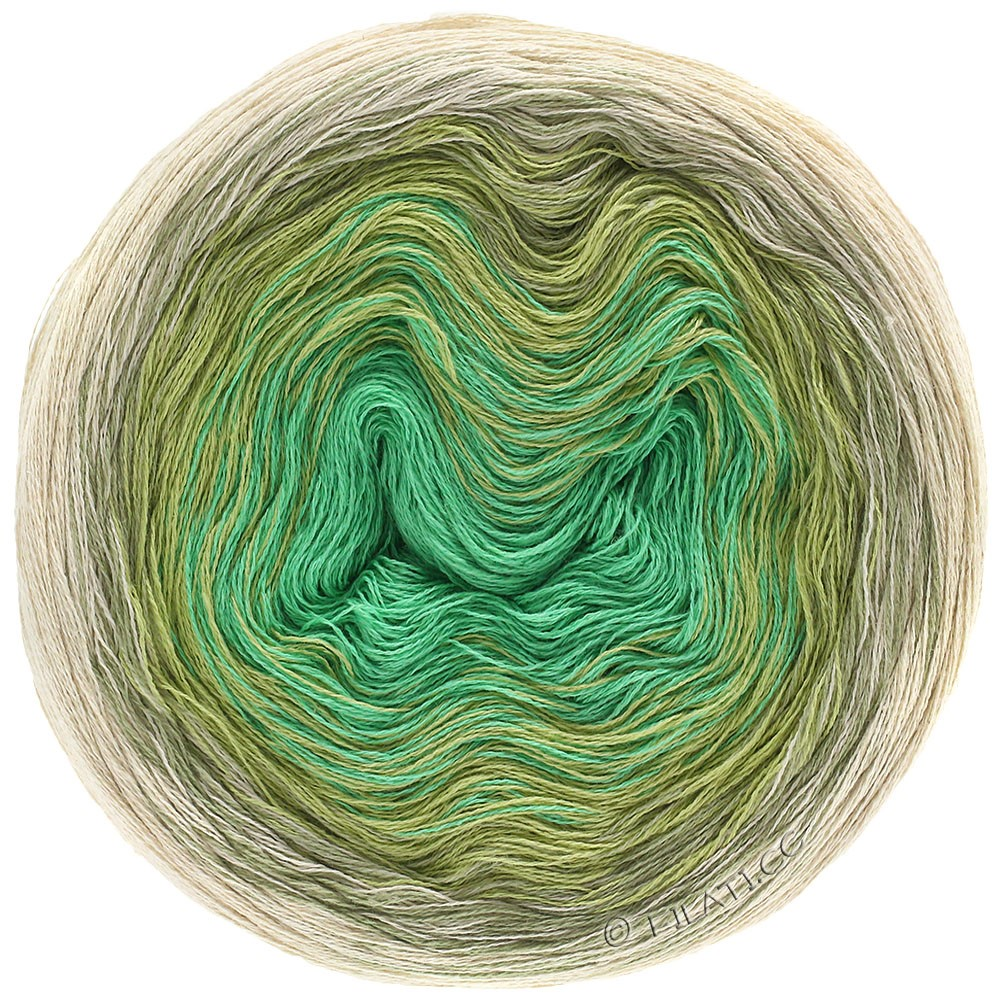 Lana Grossa SHADES OF COTTON LINEN | 706-natural/beige/reed green/jade