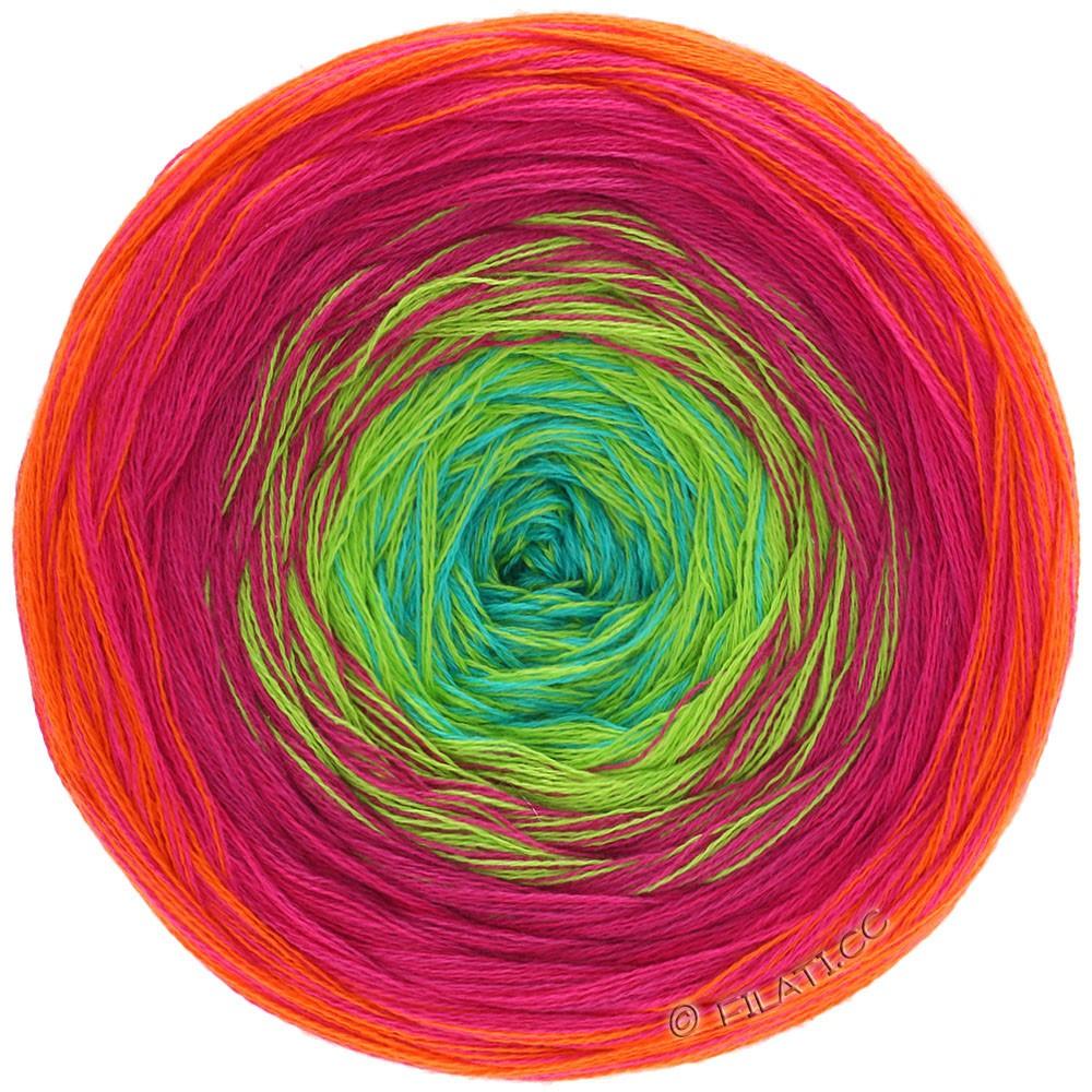 Lana Grossa SHADES OF COTTON | 101-orange/red/cyclamen/yellow green/turquoise