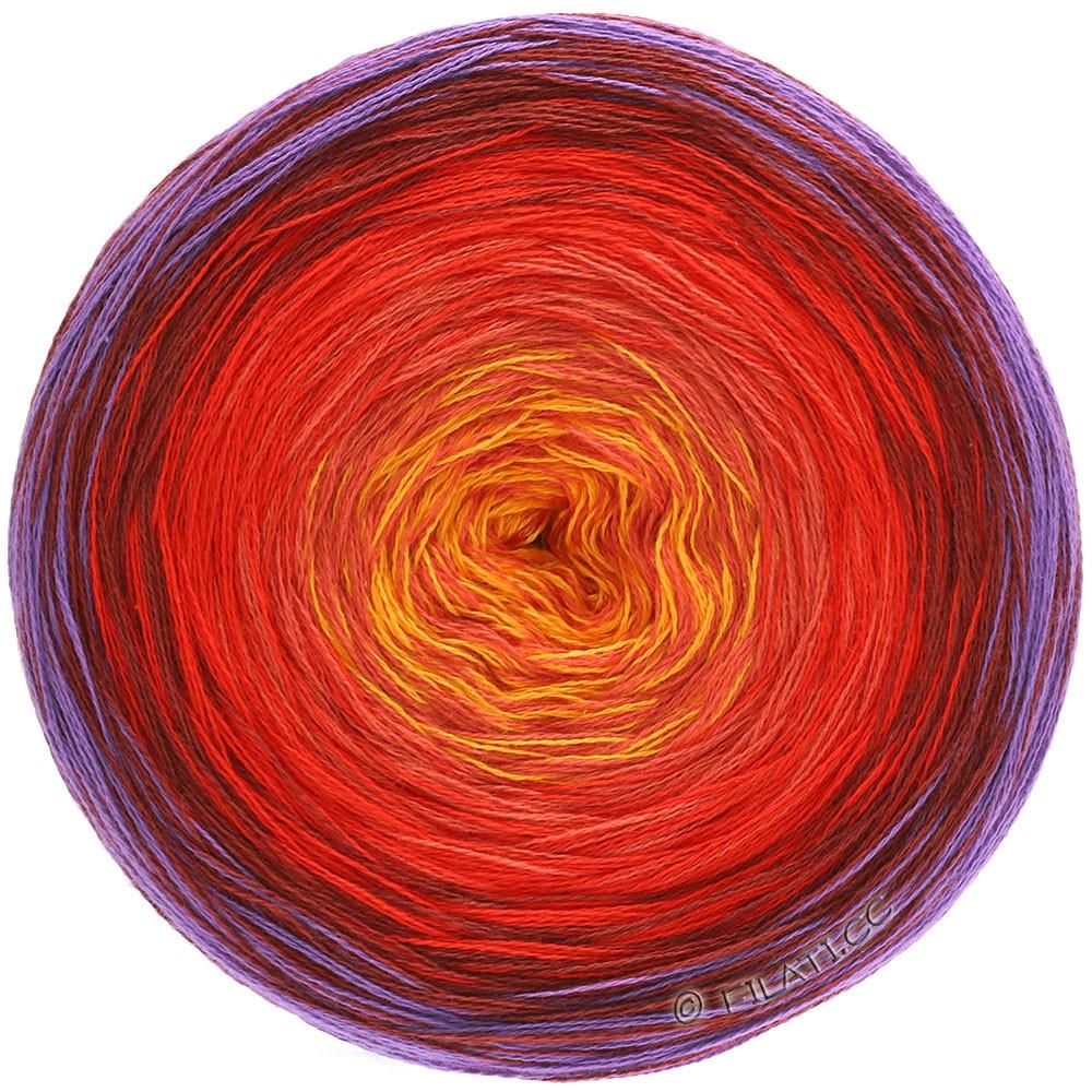 Lana Grossa SHADES OF COTTON | 103-purple/burgundy/red/orange/yellow