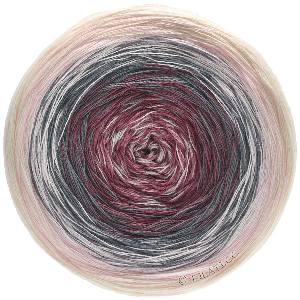 Lana Grossa SHADES OF COTTON | 104-rose/dark gray/burgundy/powder