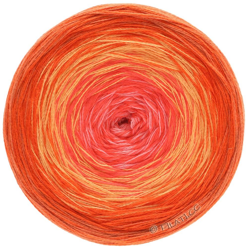 Lana Grossa SHADES OF COTTON | 105-mandarin/light orange/salmon/rose