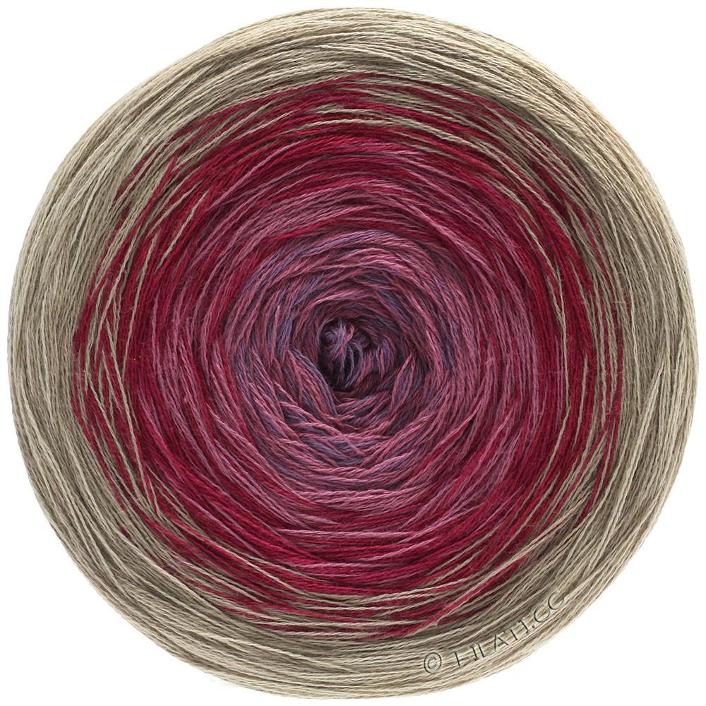 Lana Grossa SHADES OF COTTON | 107-beige/dark red/rose/purple