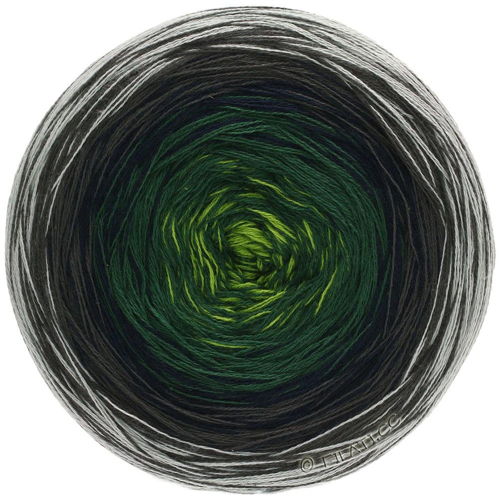 Lana Grossa SHADES OF COTTON | 109-gray/brown gray/night blue/fir/yellow green