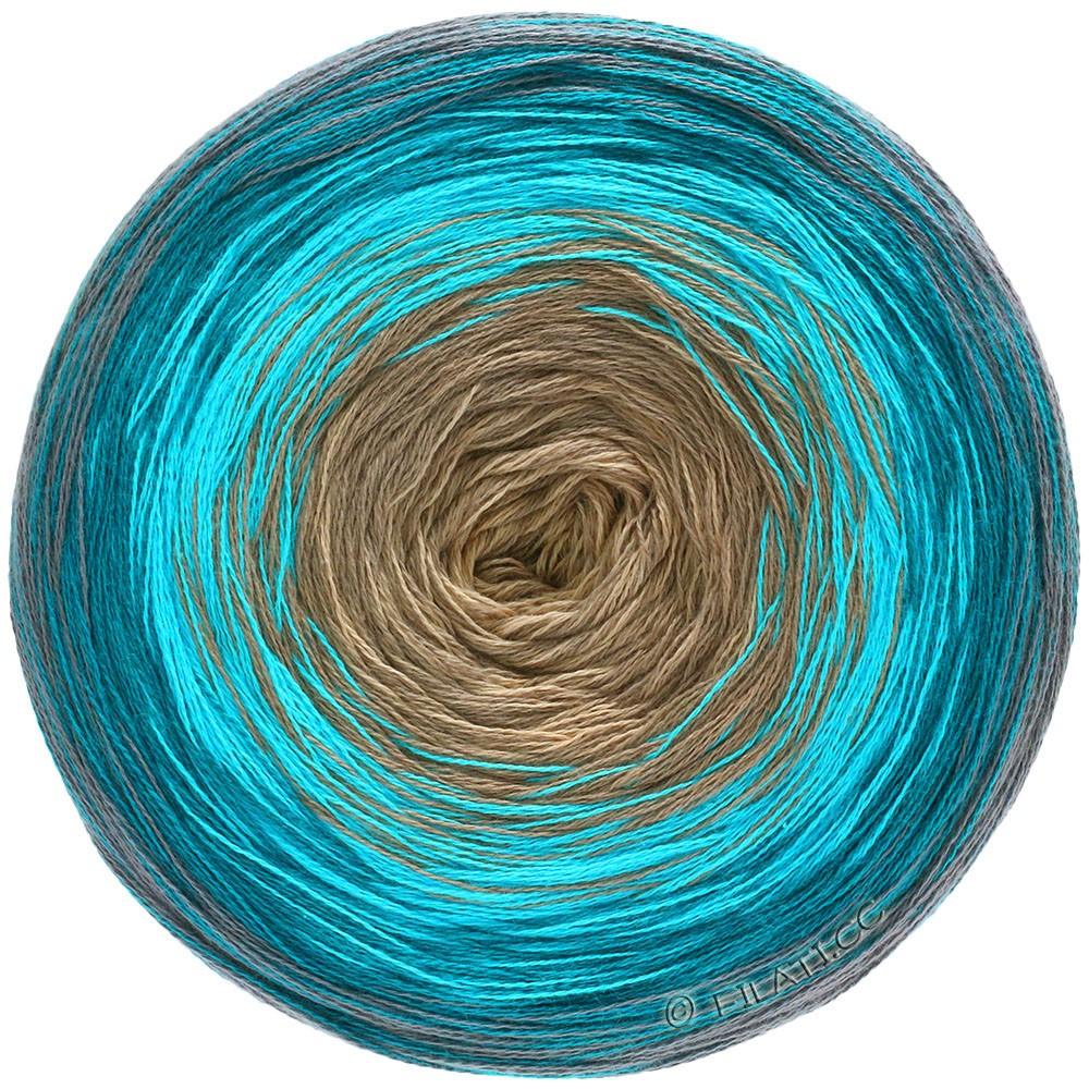 Lana Grossa SHADES OF COTTON | 110-gray/petrol blue/turquoise/beige
