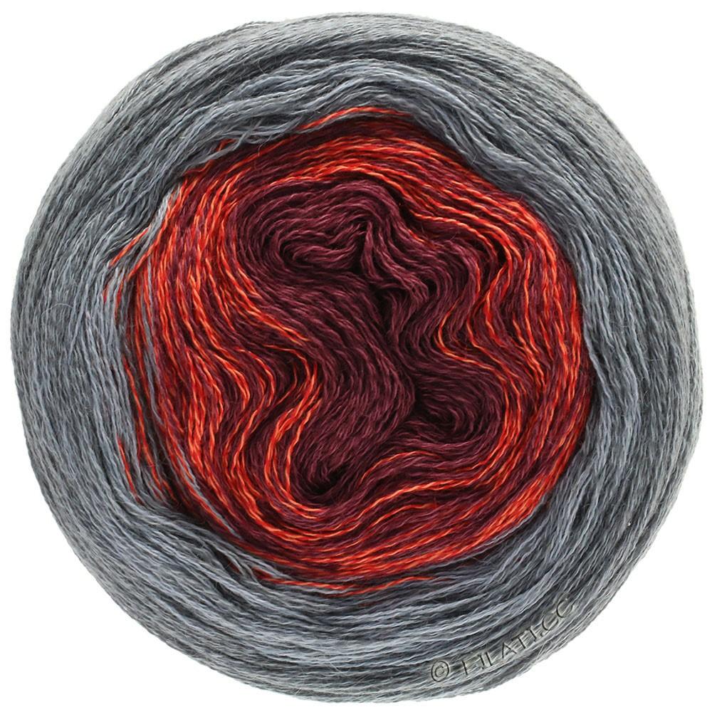 Lana Grossa SHADES OF MERINO COTTON | 405-dark red/light red/gray/dark gray