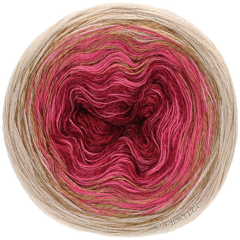 Lana Grossa SHADES OF MERINO COTTON | 407-burgundy/light red/gray beige/taupe