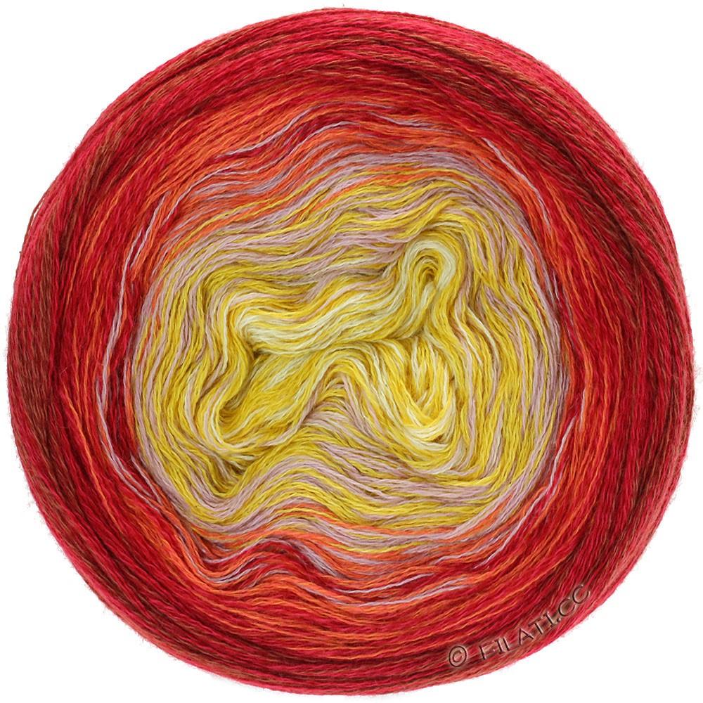 Lana Grossa SHADES OF MERINO COTTON | 607-vanilla/corn yellow/antique pink/orange/red
