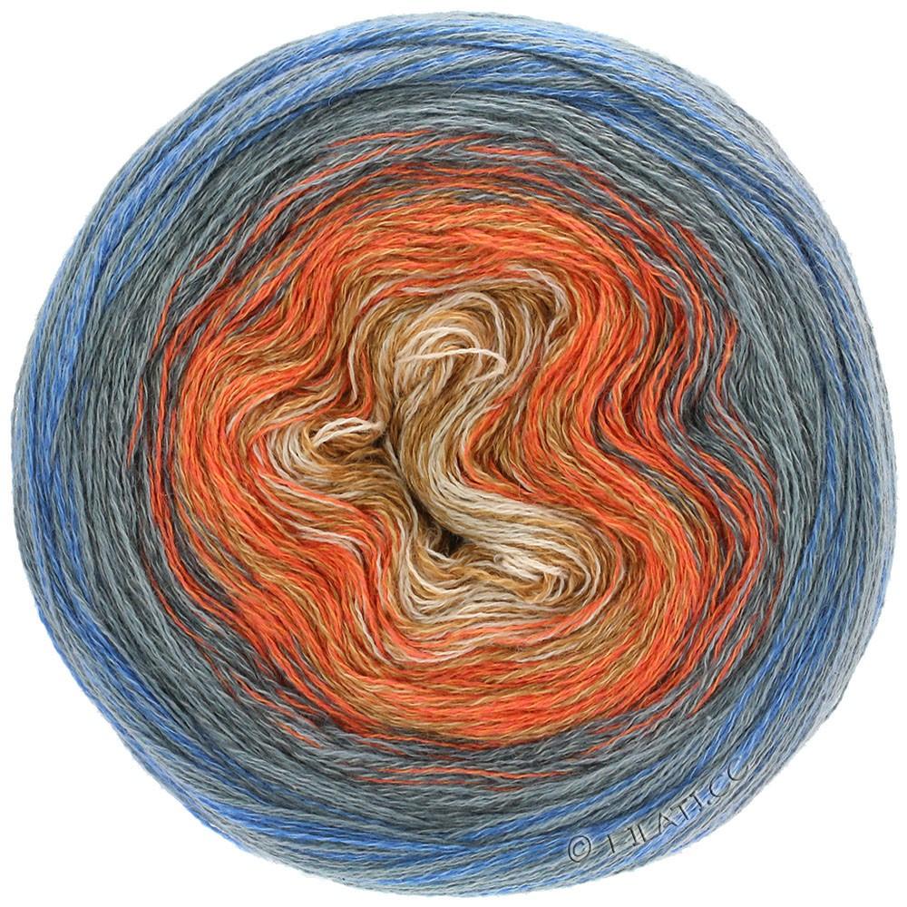 Lana Grossa SHADES OF MERINO COTTON | 609-sand/orange/khaki/dark gray