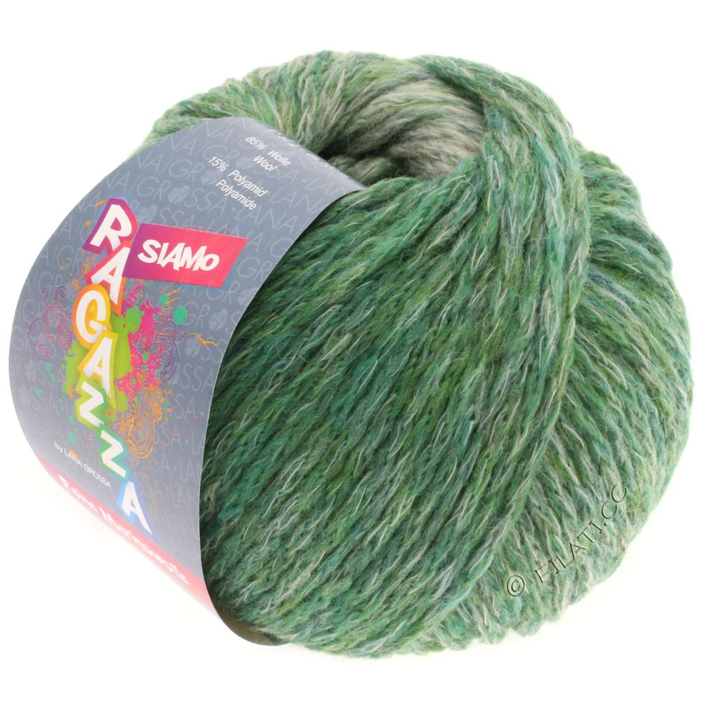 Lana Grossa SIAMO (Ragazza) | 01-green/natural mottled