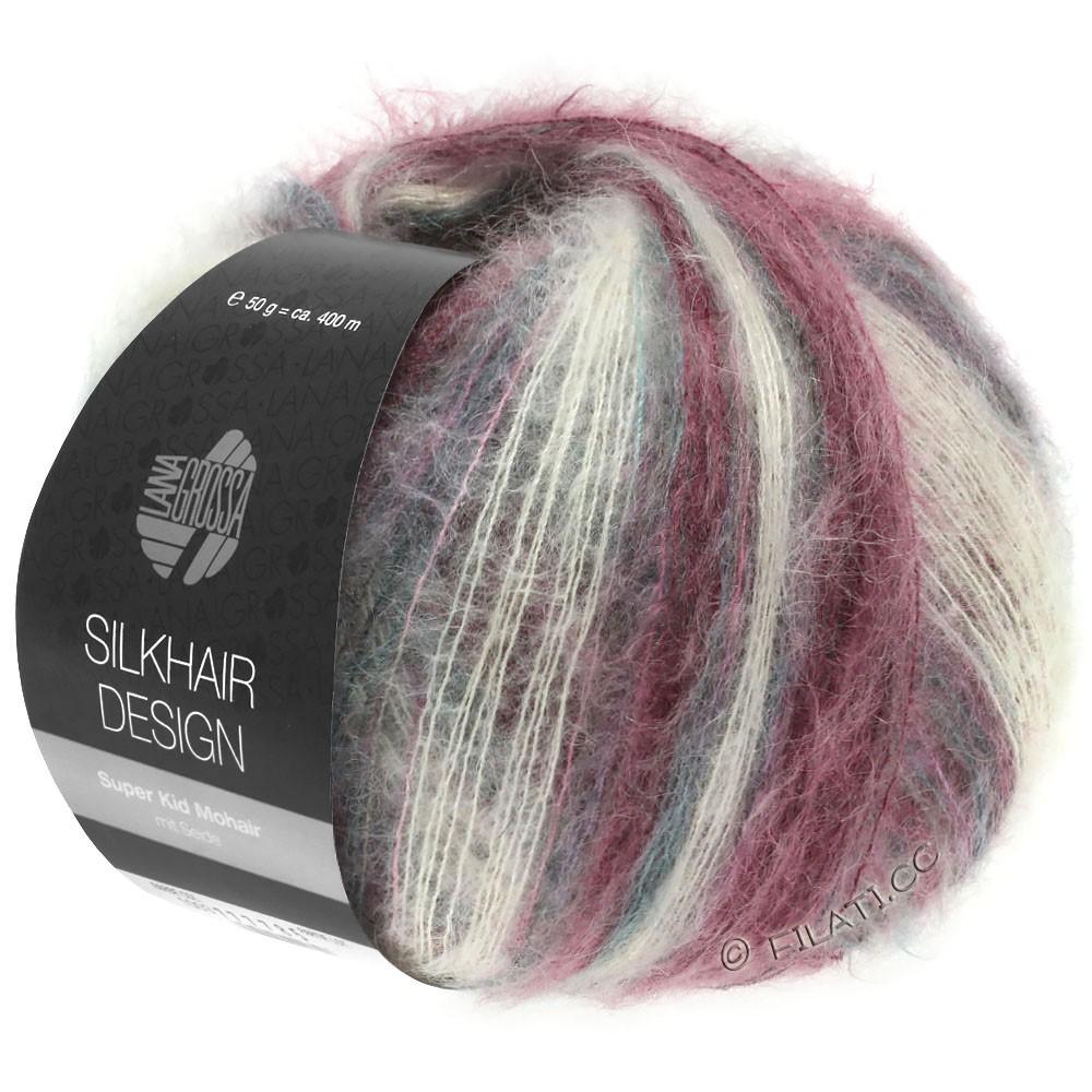 Lana Grossa SILKHAIR Design | 1003-natural/rose/blackberry/graphite