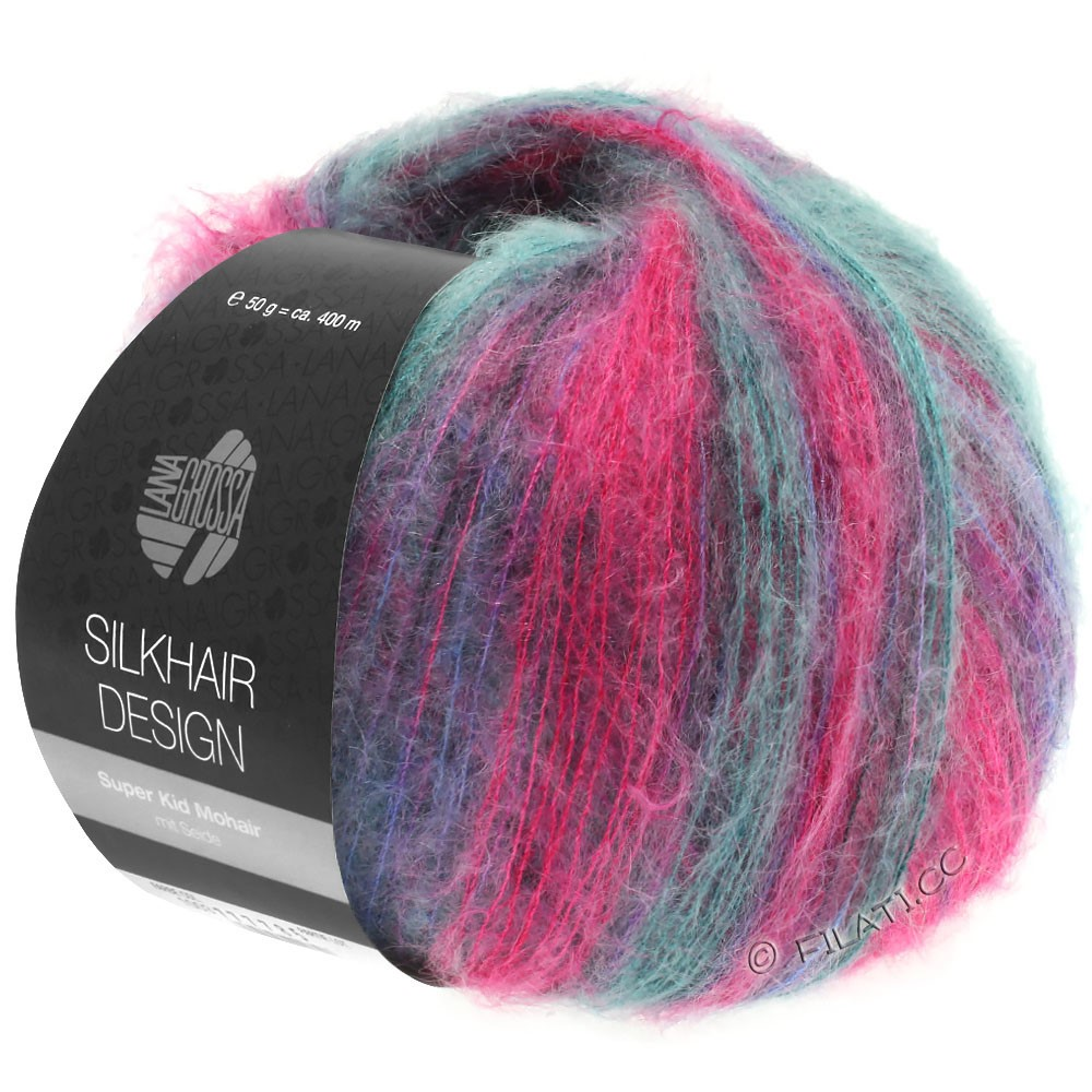 Lana Grossa SILKHAIR Design | 1004-pink/blackberry/petrol/blue violet