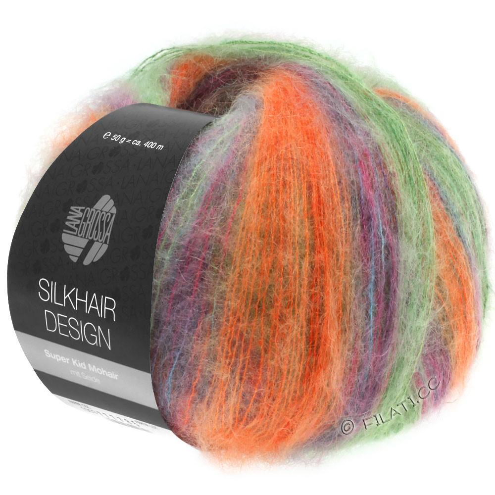 Lana Grossa SILKHAIR Design | 1005-green/orange/petrol/cyclamen/blackberry
