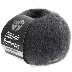 Lana Grossa SILKHAIR Paillettes | 406-anthracite