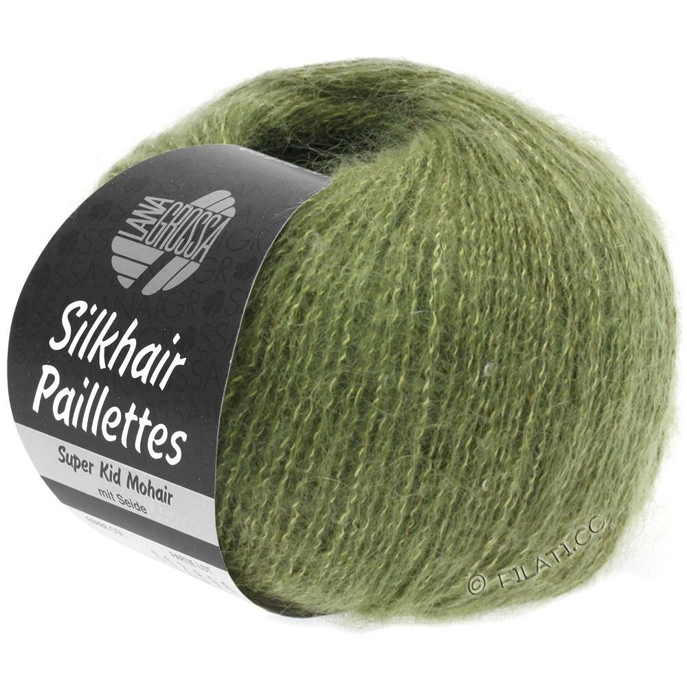 Lana Grossa SILKHAIR Paillettes | 411-khaki green