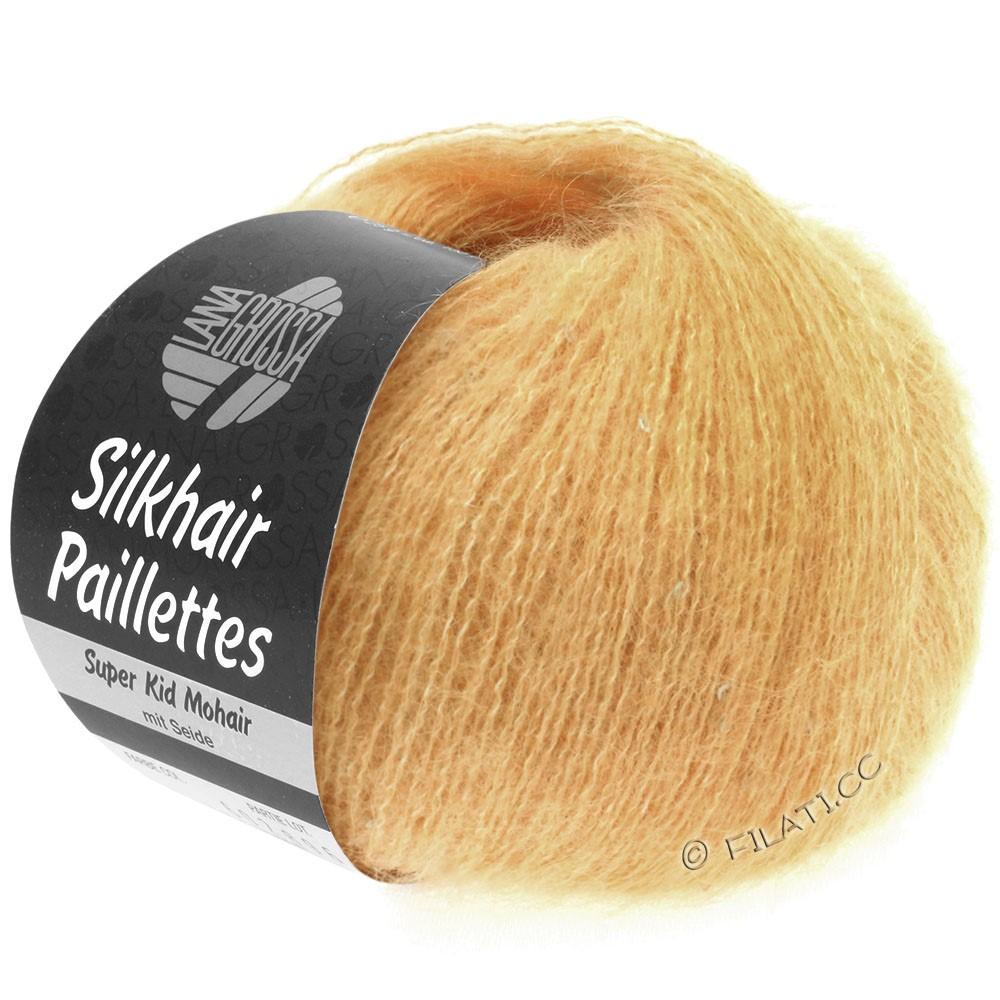 Lana Grossa SILKHAIR Paillettes | 413-apricot