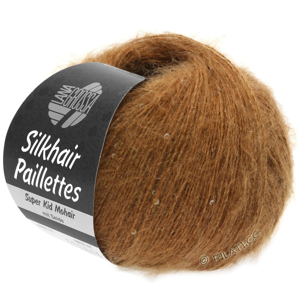 Lana Grossa SILKHAIR Paillettes | 418-light brown
