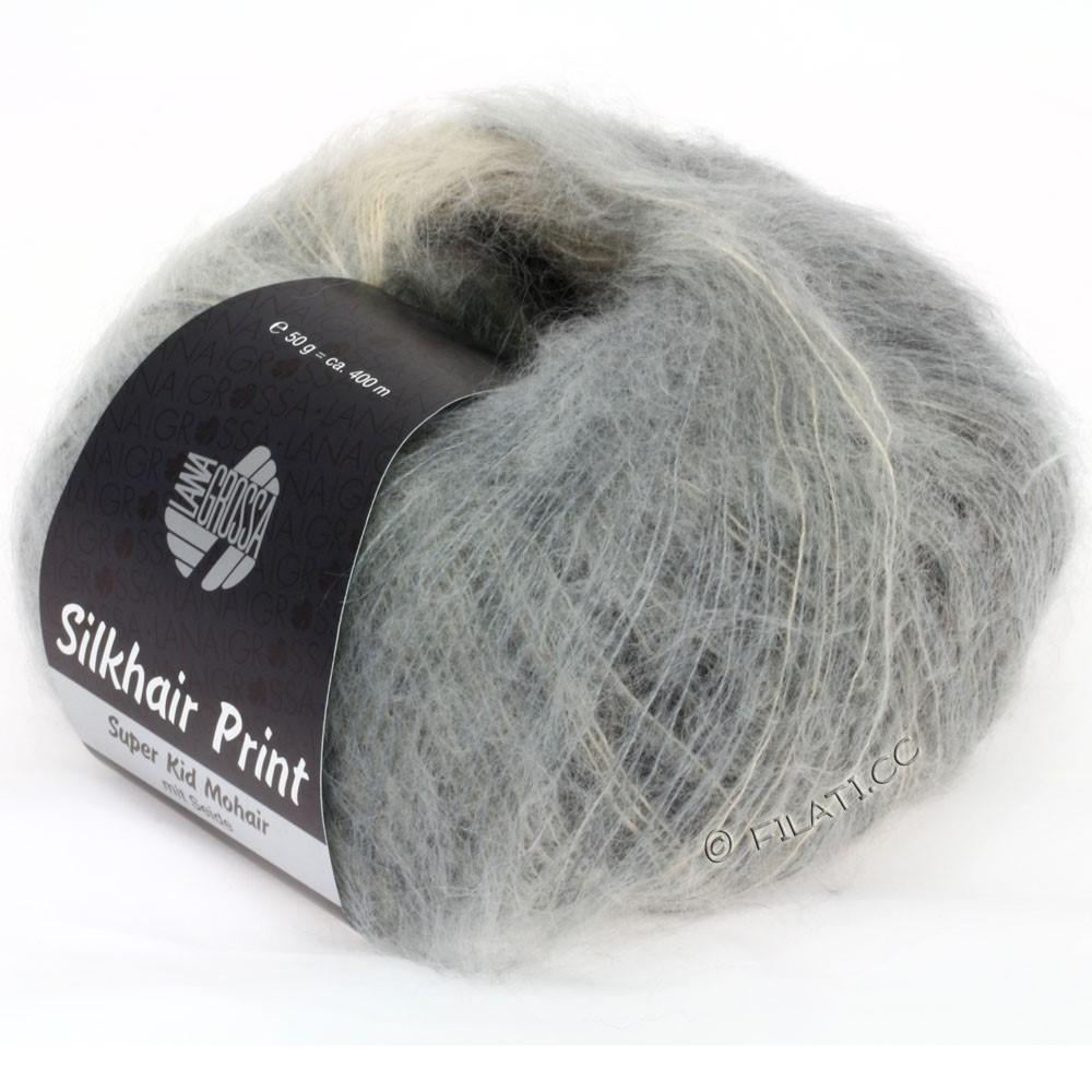 Lana Grossa SILKHAIR Print | 306-grège/gray/anthracite