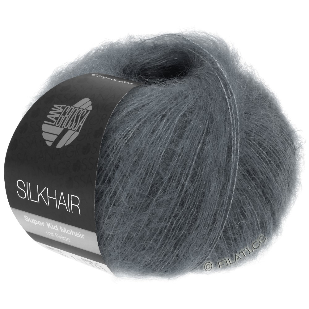 Lana Grossa SILKHAIR  Uni/Melange   012-dark gray