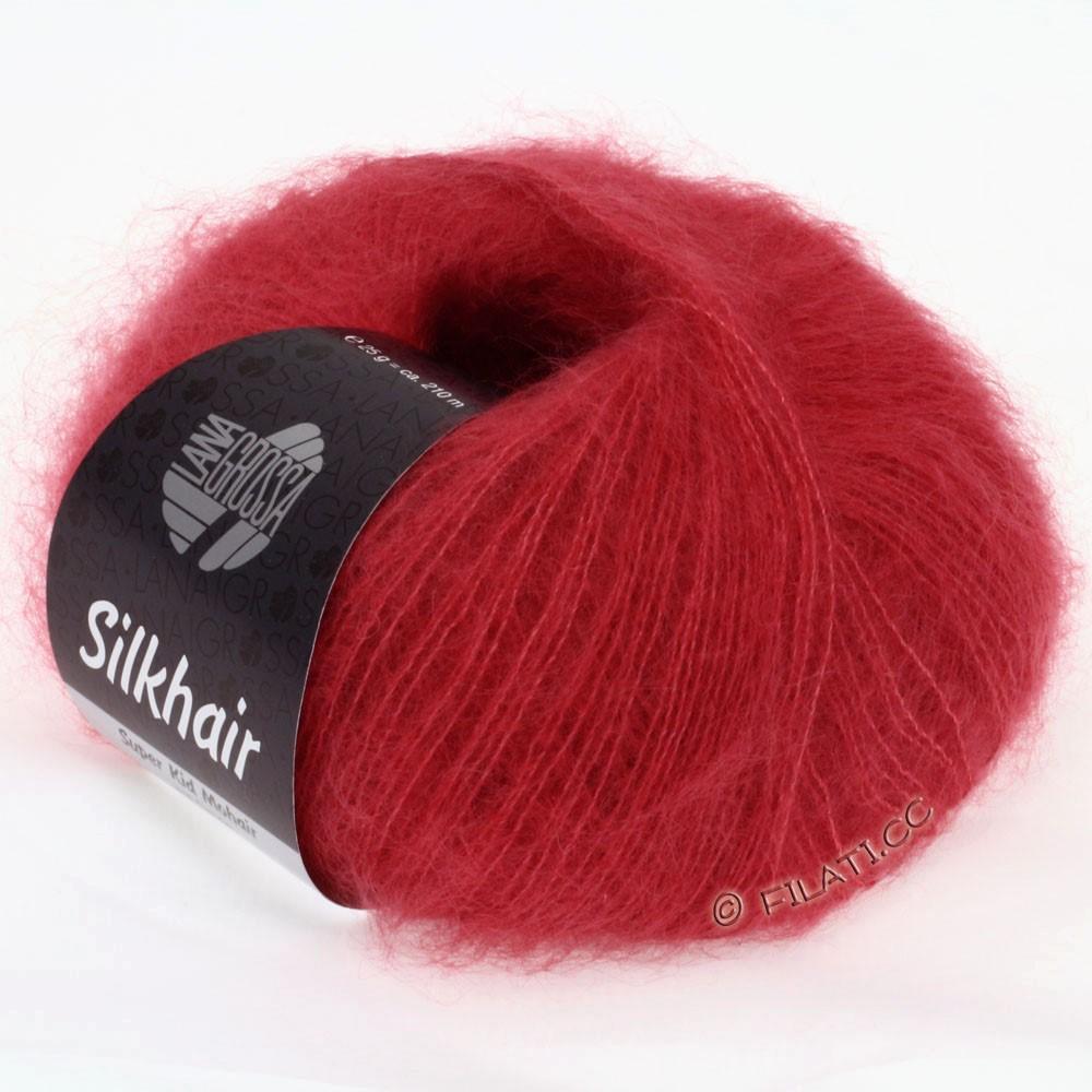 Lana Grossa SILKHAIR  Uni/Melange   020-red