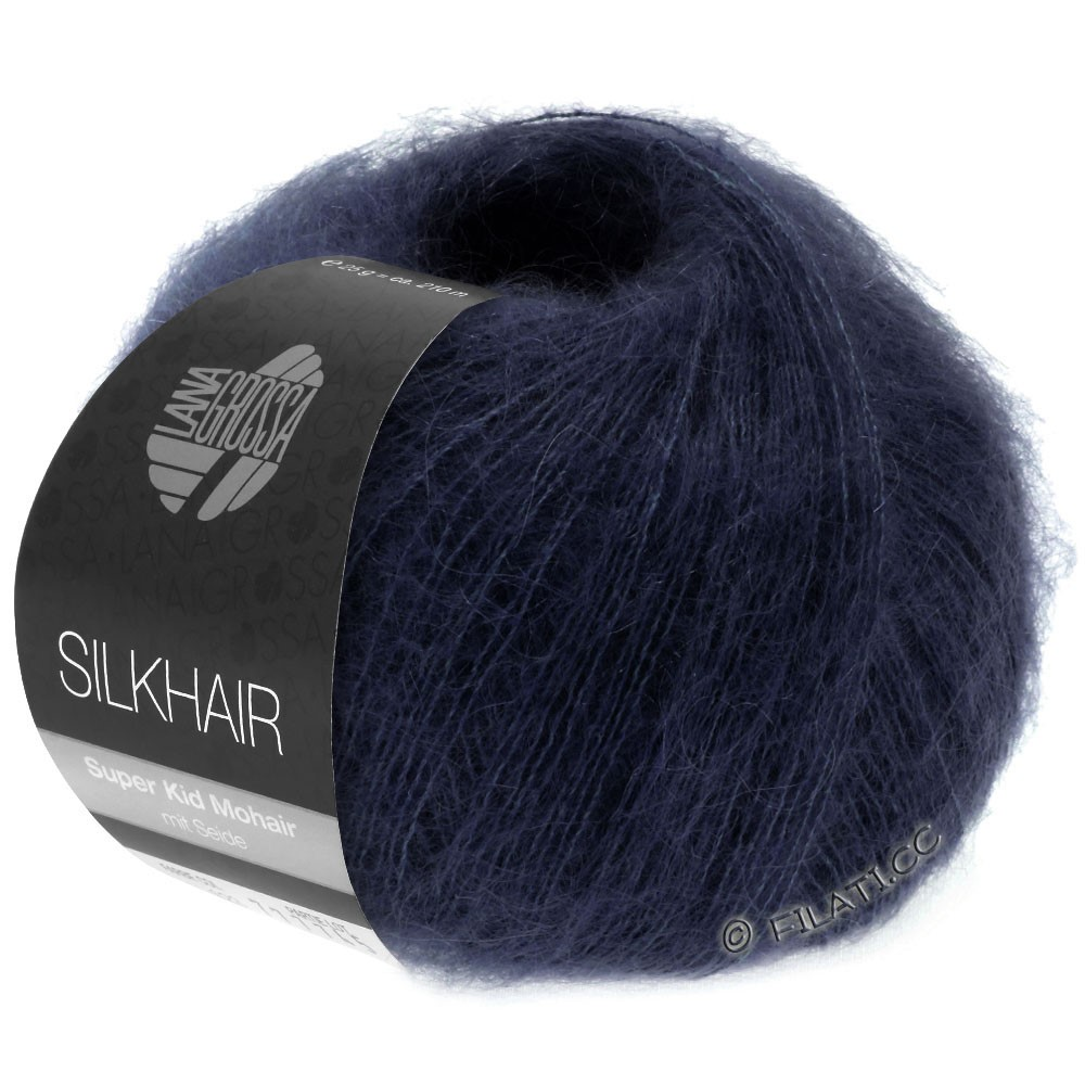 Lana Grossa SILKHAIR  Uni/Melange | 027-night blue