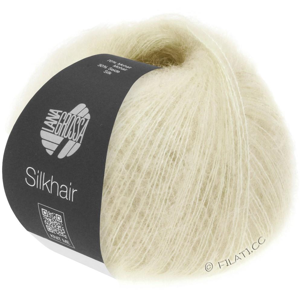 Lana Grossa SILKHAIR  Uni/Melange   052-raw white