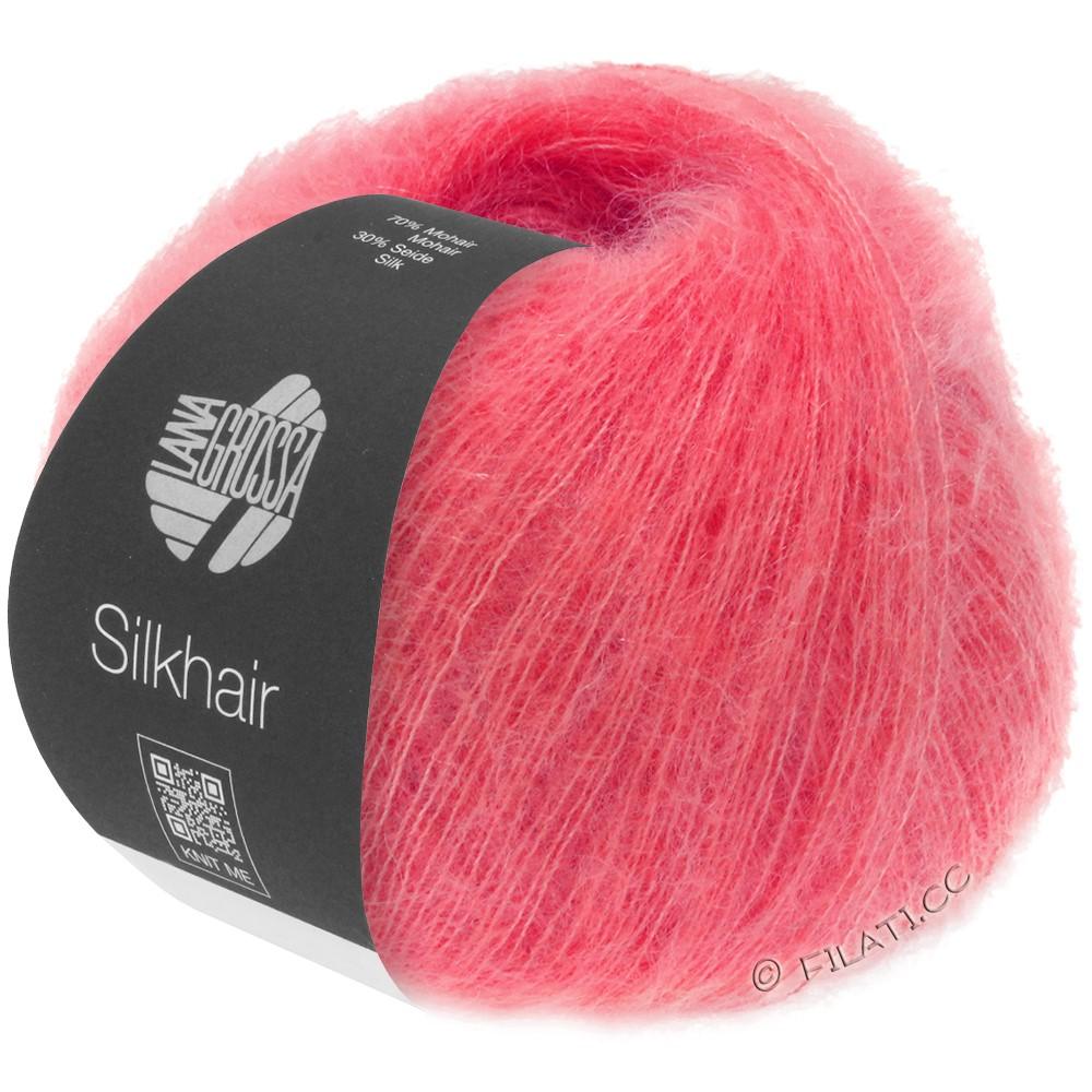 Lana Grossa SILKHAIR  Uni/Melange   070-raspberry
