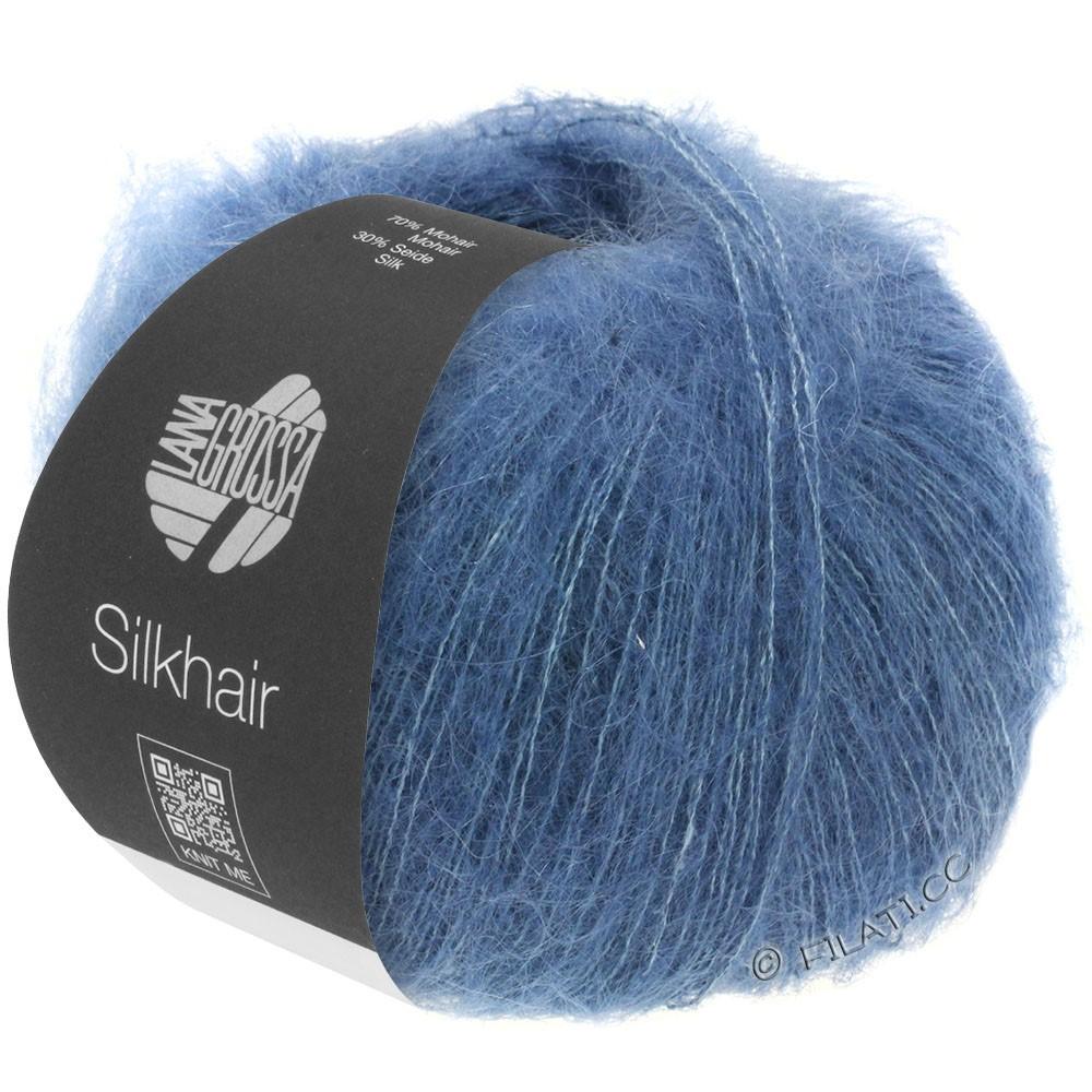 Lana Grossa SILKHAIR  Uni/Melange   079-dark blue