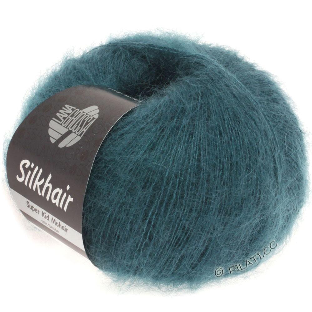 Lana Grossa SILKHAIR  Uni/Melange   083-dark green blue
