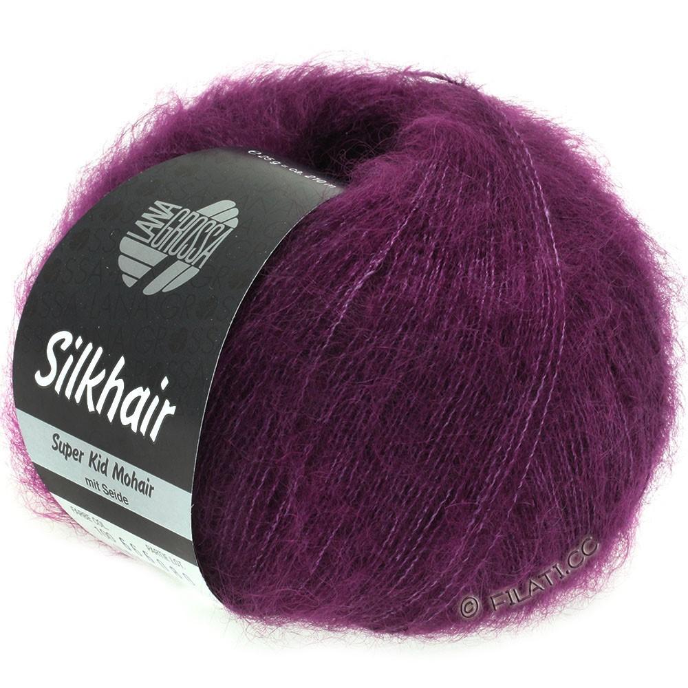 Lana Grossa SILKHAIR  Uni/Melange   100-red violet