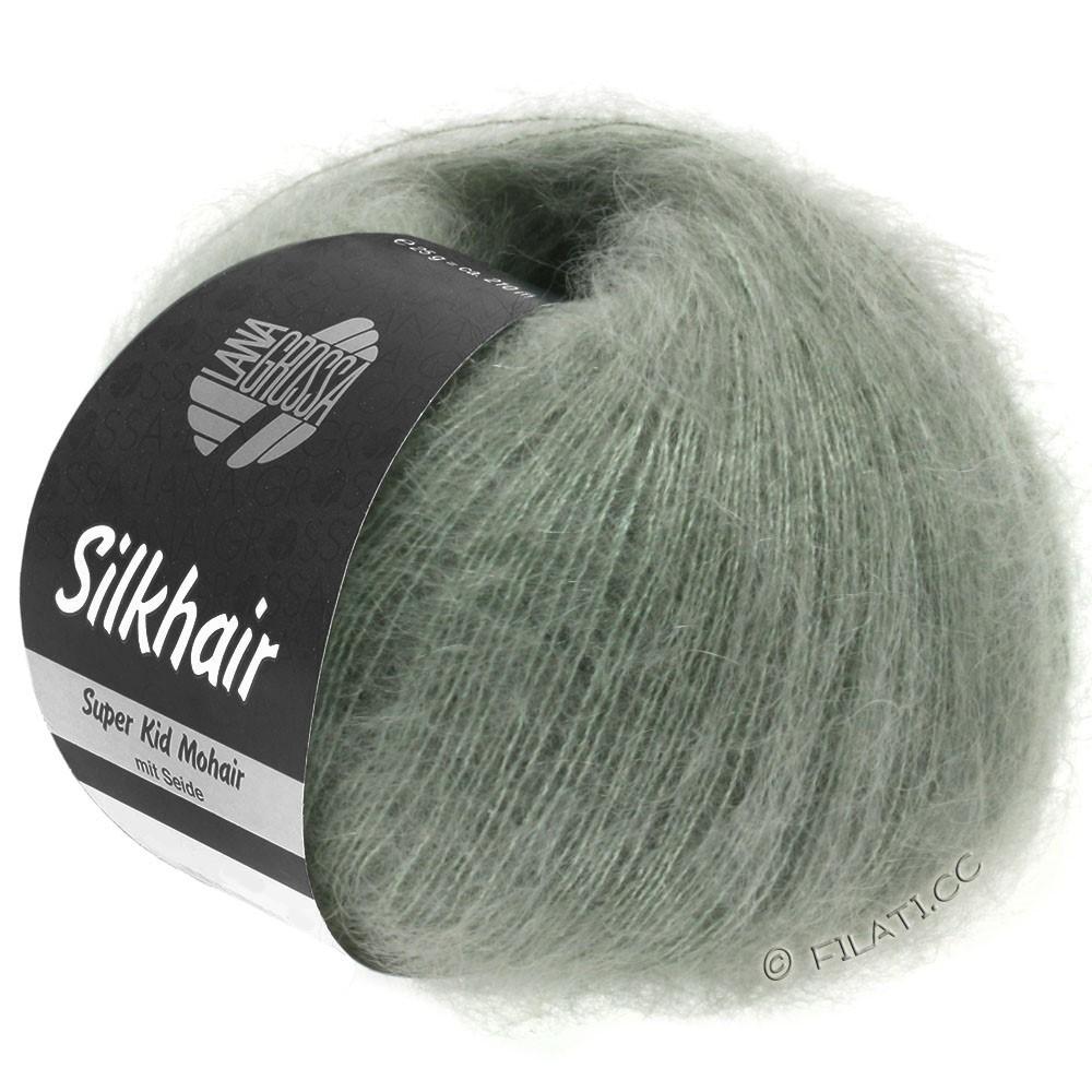 Lana Grossa SILKHAIR  Uni/Melange   105-gray green