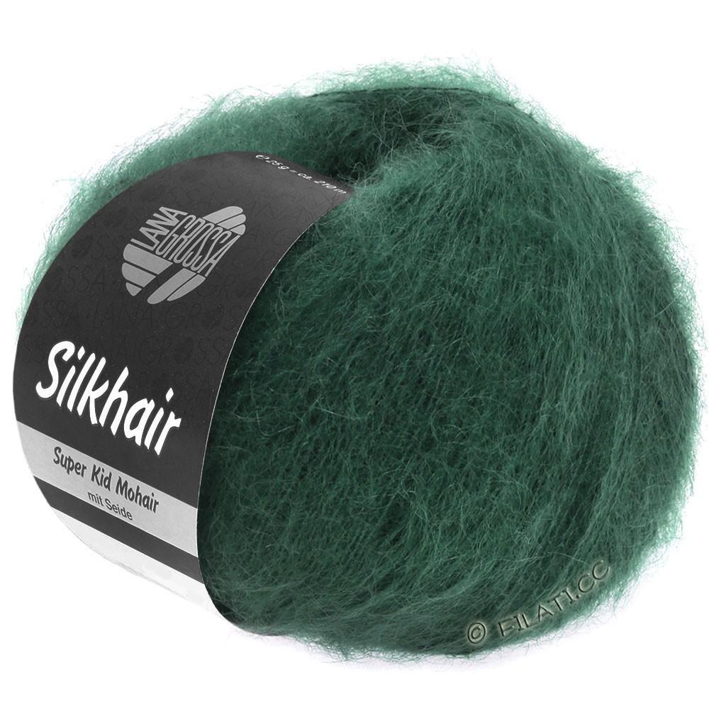 Lana Grossa SILKHAIR  Uni/Melange   110-dark green