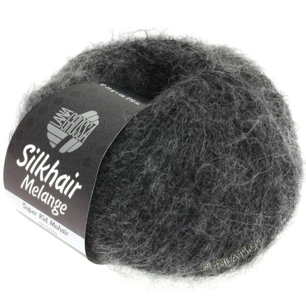 Lana Grossa SILKHAIR  Uni/Melange   719-black/gray mottled