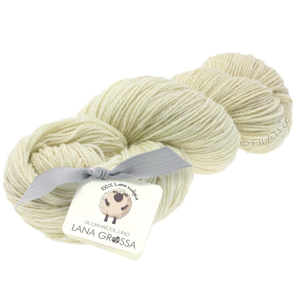 Lana Grossa SLOW WOOL LINO   01-raw white