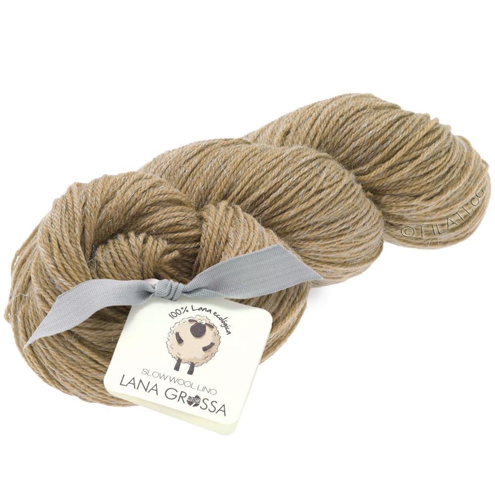 Lana Grossa SLOW WOOL LINO   02-camel