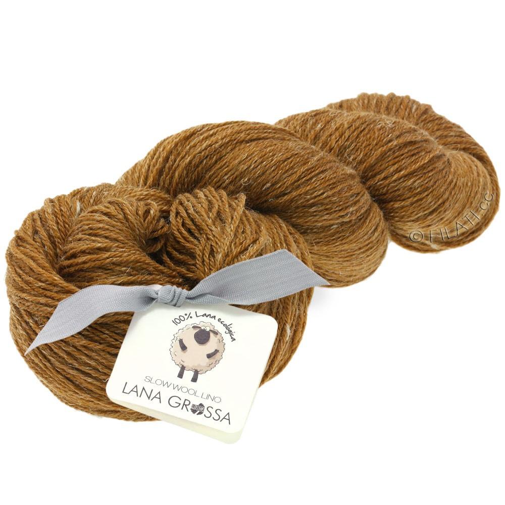 Lana Grossa SLOW WOOL LINO   03-brown