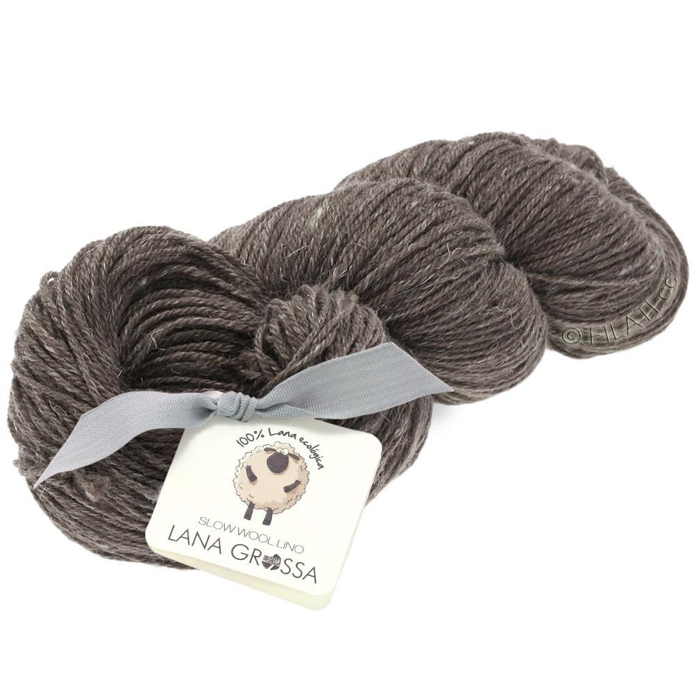 Lana Grossa SLOW WOOL LINO   04-gray brown