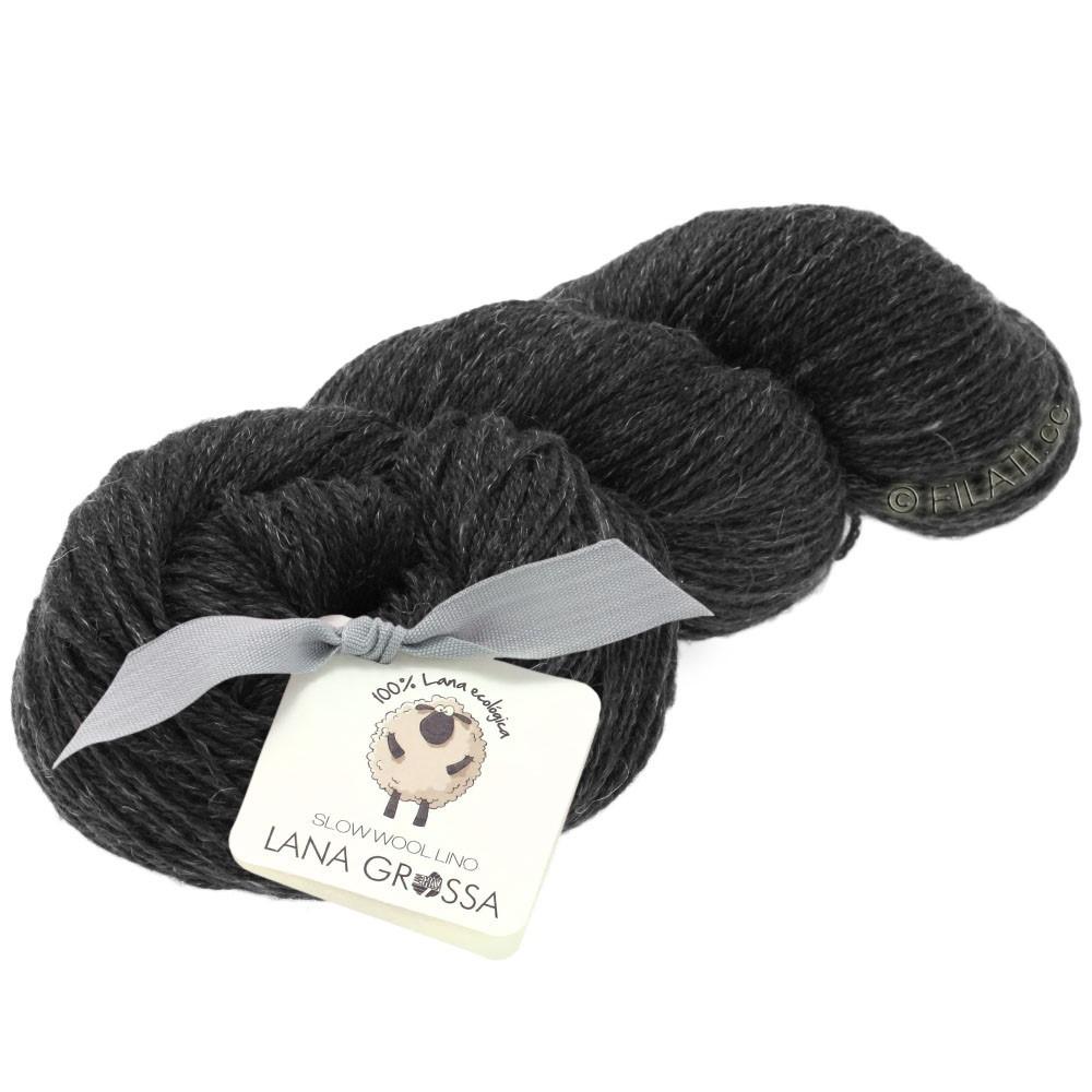 Lana Grossa SLOW WOOL LINO   08-anthracite