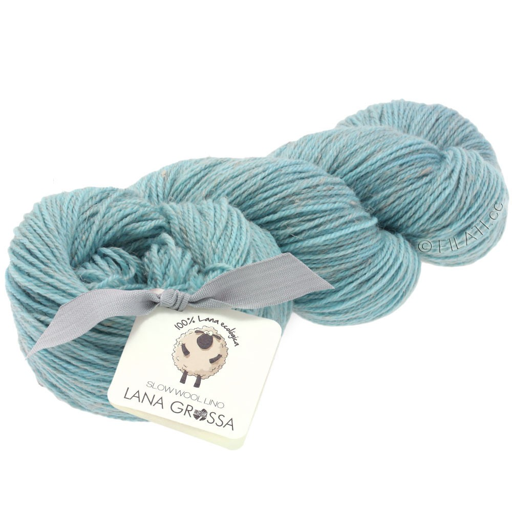 Lana Grossa SLOW WOOL LINO   11-light blue