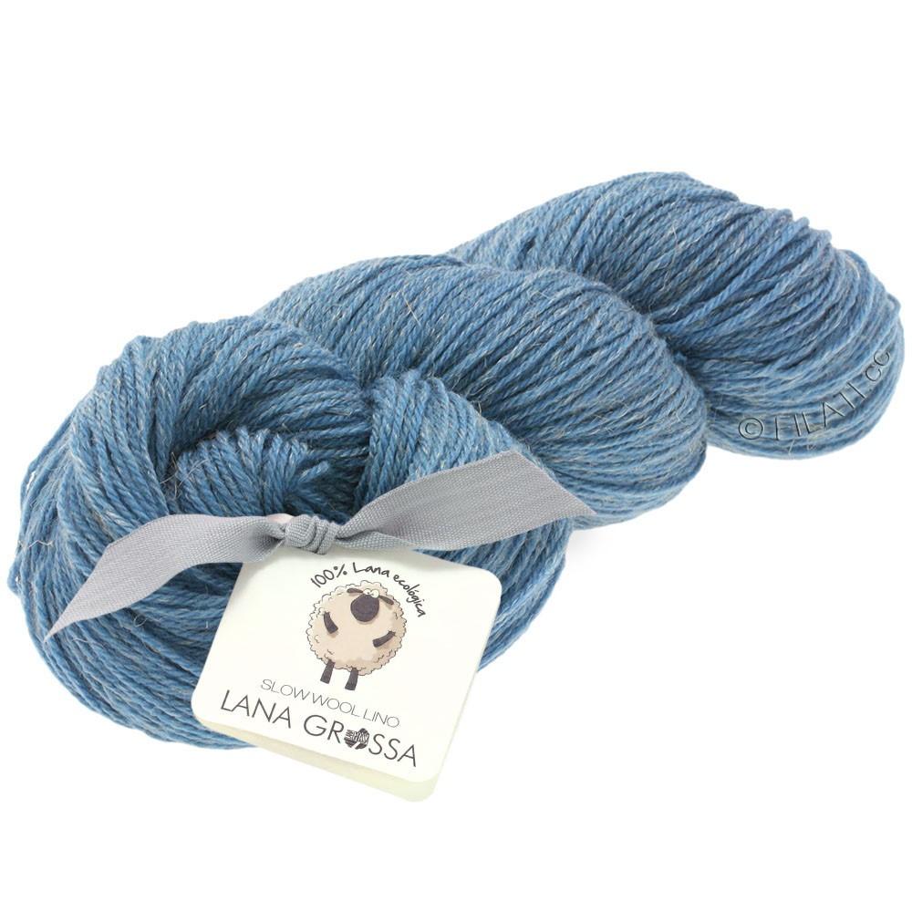Lana Grossa SLOW WOOL LINO   12-medium blue