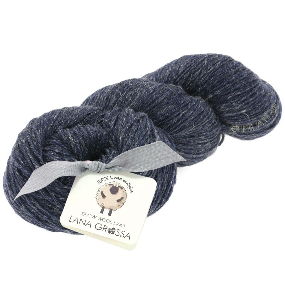 Lana Grossa SLOW WOOL LINO   13-dark blue