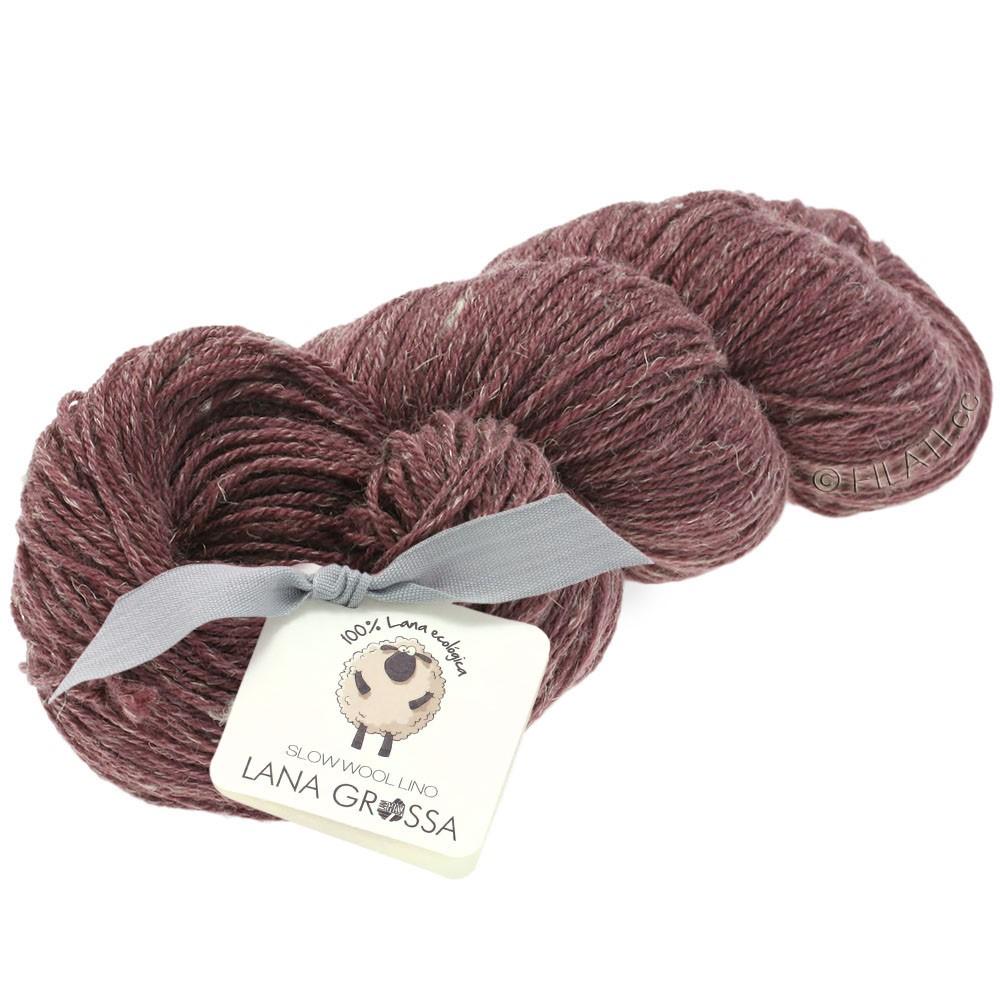 Lana Grossa SLOW WOOL LINO   15-burgundy
