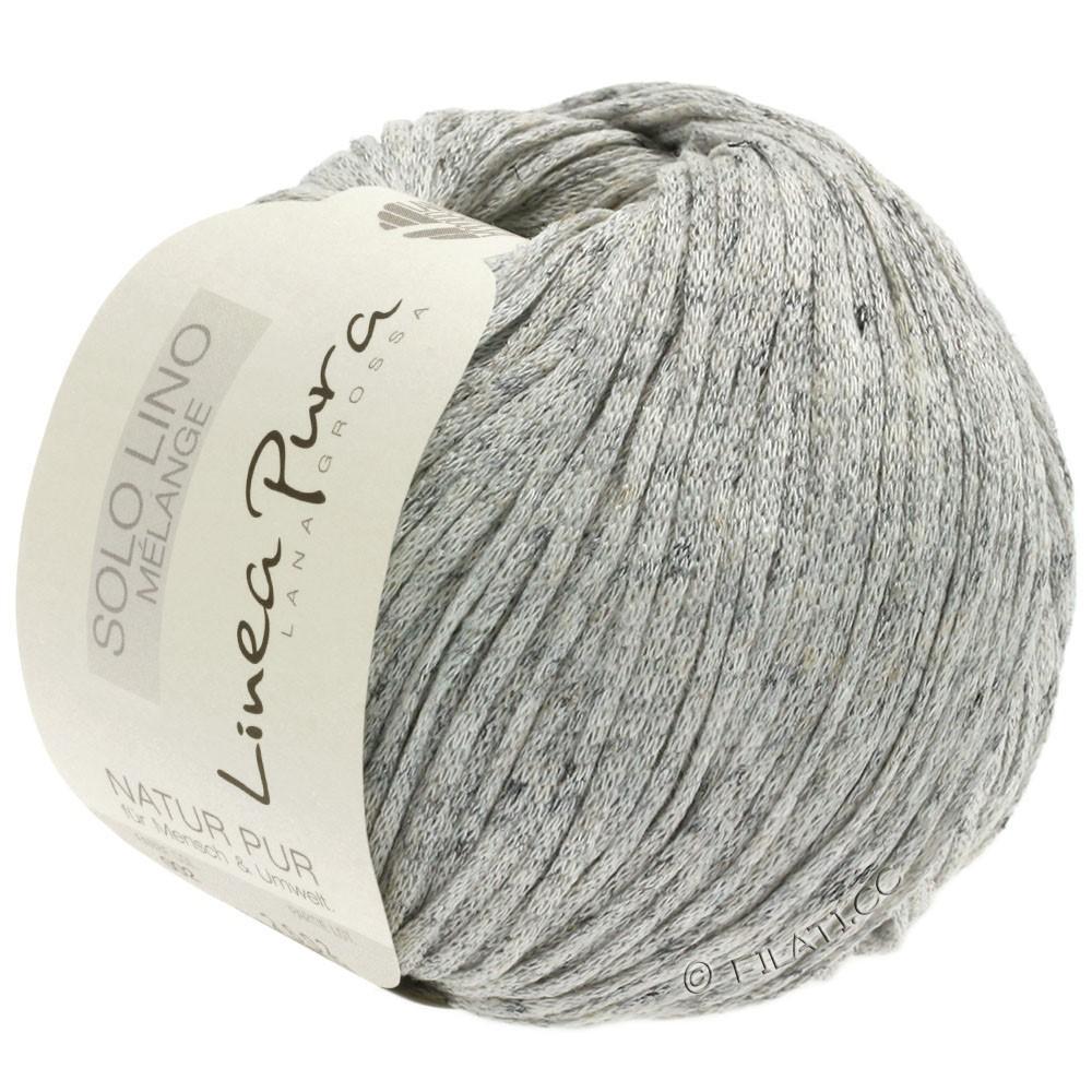 Lana Grossa SOLO LINO MELANGE (Linea Pura) | 102-natural/gray mottled