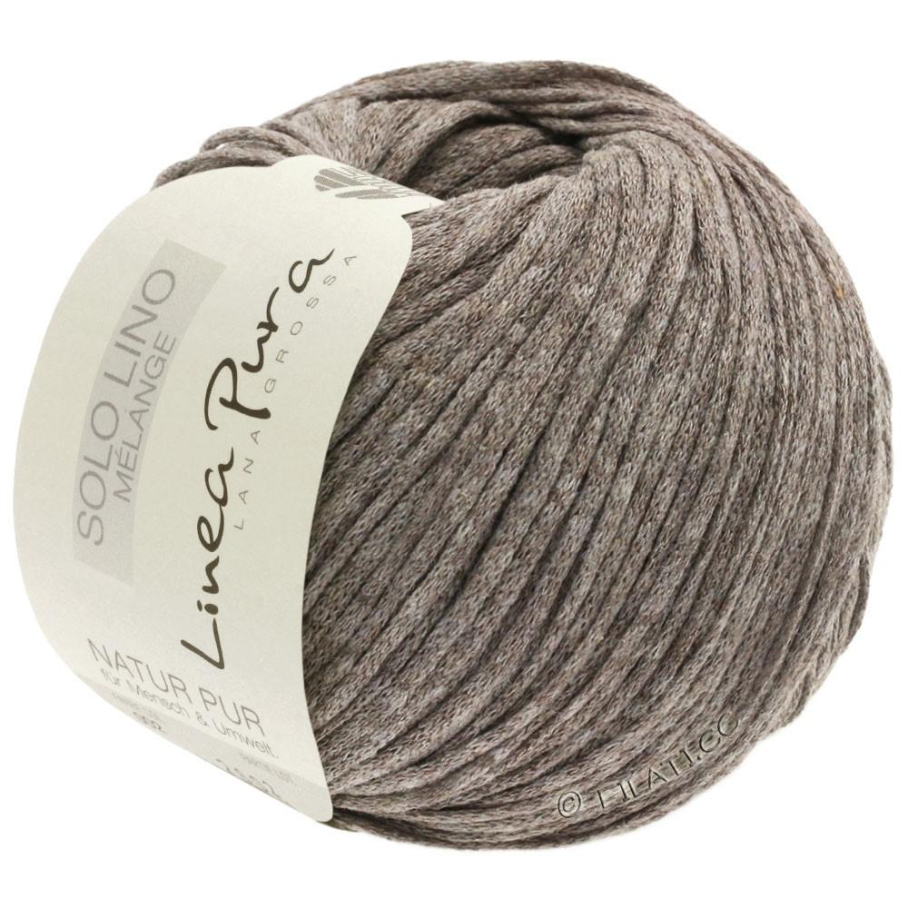 Lana Grossa SOLO LINO MELANGE (Linea Pura) | 105-gray brown mottled