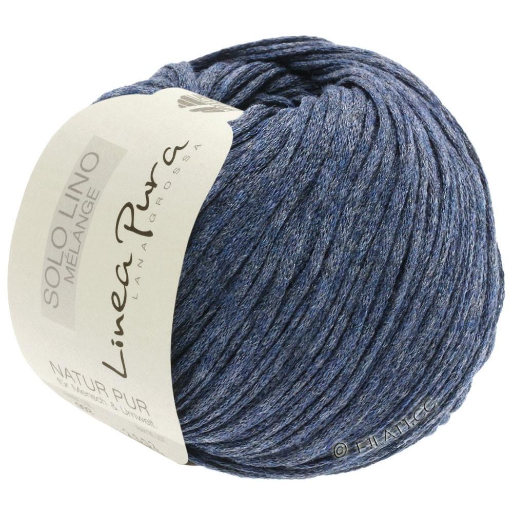 Lana Grossa SOLO LINO MELANGE (Linea Pura) | 107-dark blue mottled